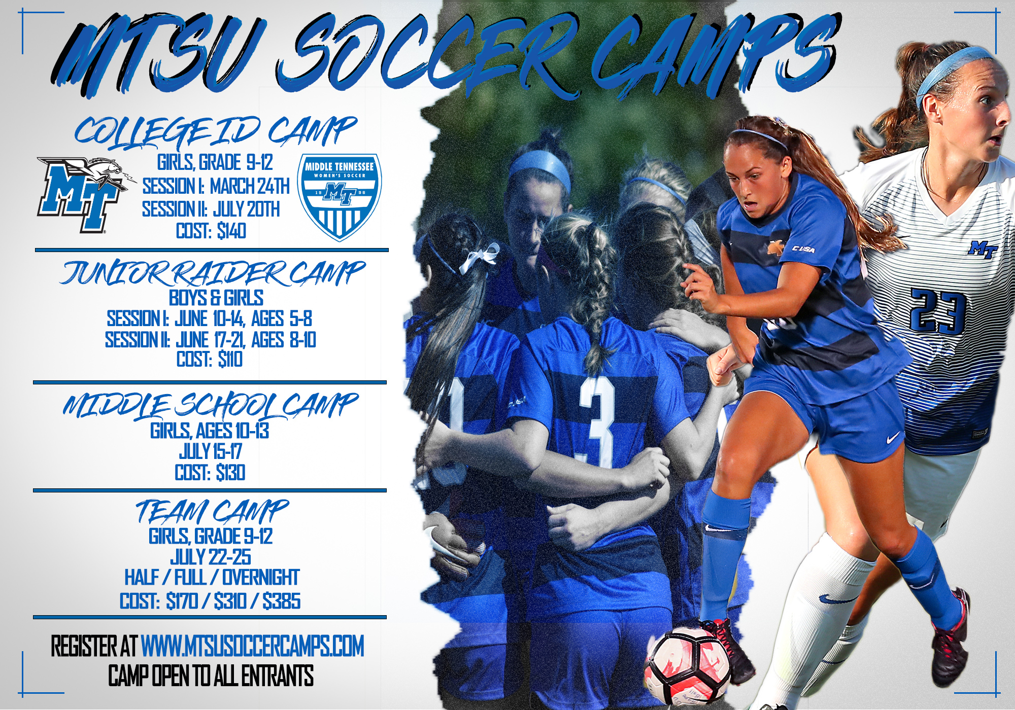 Middle Tennessee's Soccer Summer Camps - Middle Tennessee State